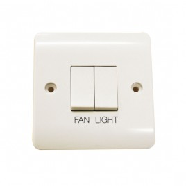 White Momentary Boost and Light Switch
