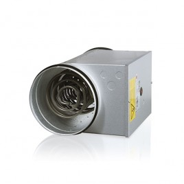 Circular Electric Duct Heater with Adjustable Temperature and Safety Sensors
