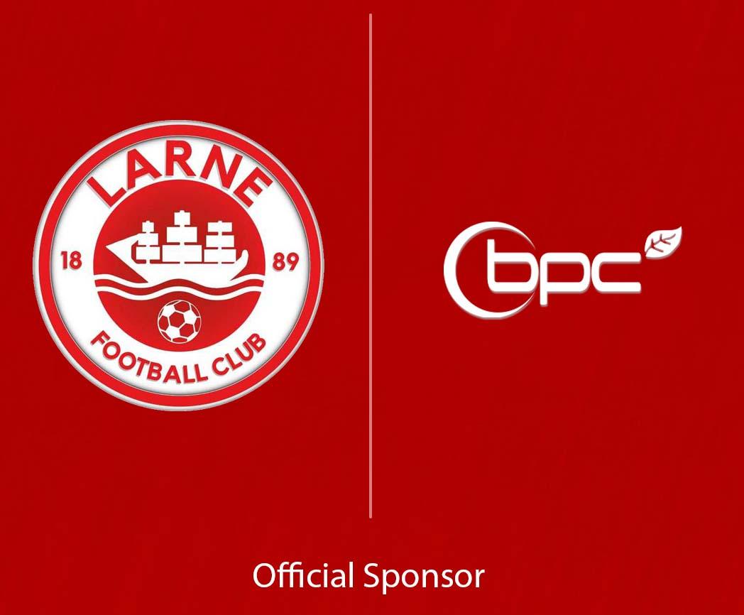 We are proud sponsors of Larne Football Club!